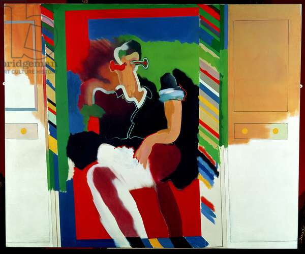Reflected Man, 1963 (oil on canvas)