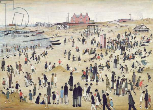 July, The Seaside, 1943 (oil on canvas)