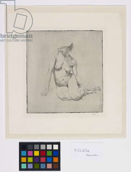 Nude Seated, 1970 (etching)