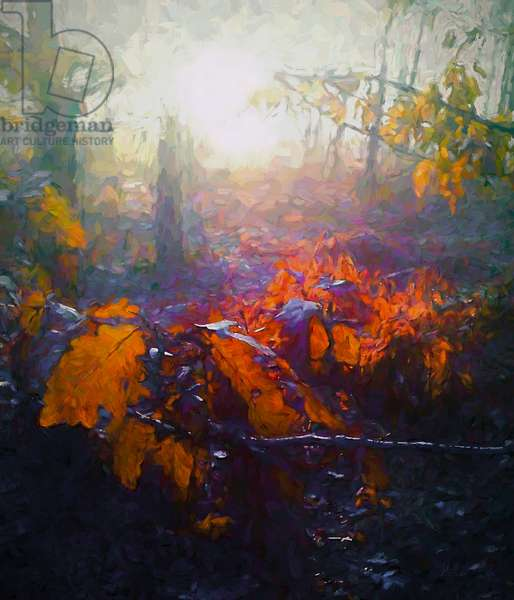 Autumn Forest, 2018, (mixed media)