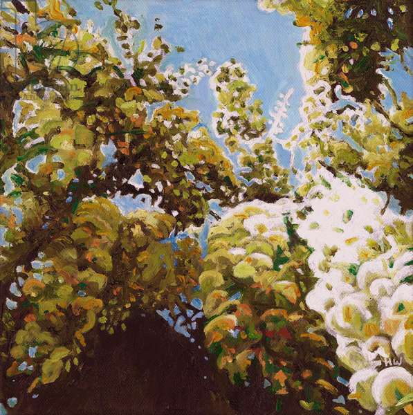 Up into wisteria, 2011, (oil on canvas)