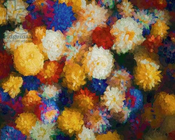 Flower Shop, 2018, (mixed media)