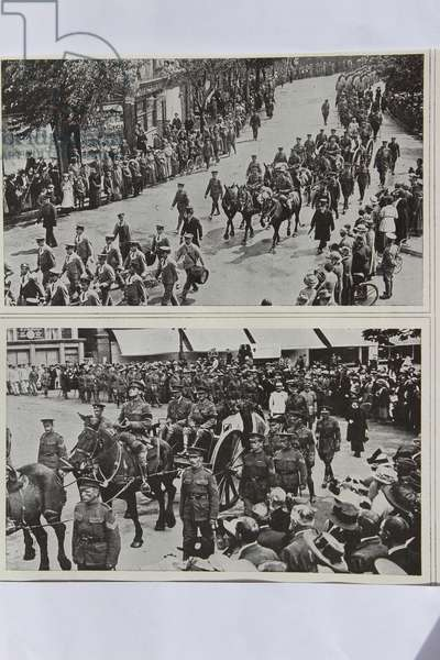 Funeral of Colonel Fitzgerald, Secretary to Lord Kitchener, Eastbourne, 1916 (b/w photo)