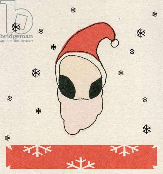 Santa Disguise, 2008, (digital print on paper)