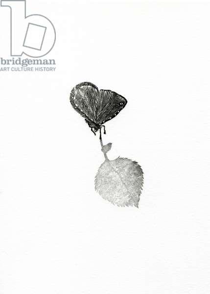 Suspense, 2014 (wood engraving on paper)