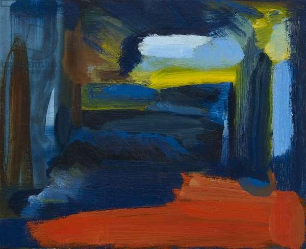 Benmore Sunrise (Homage to Howard Hodgkin), 2018, (oil on canvas)