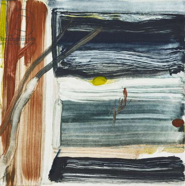 Sun from the Window, 2018, (monotype)