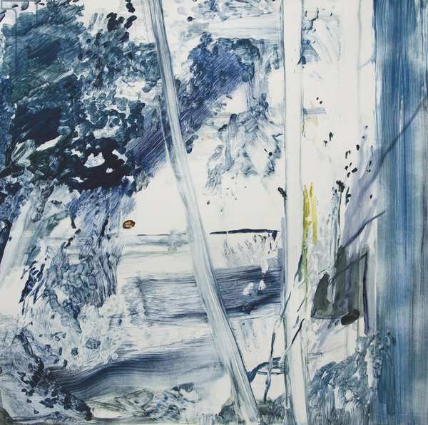 Blue Trees, Paros, 2017, (monotype)