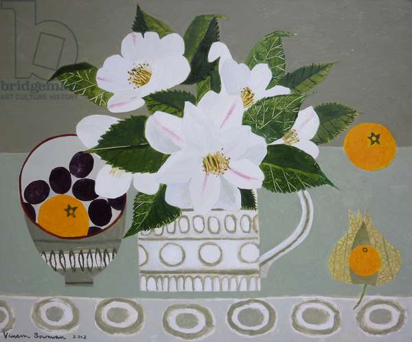 White Camelia and Tangerines