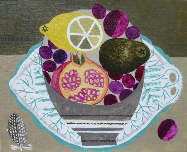 Fruitbowl on Fern Plate