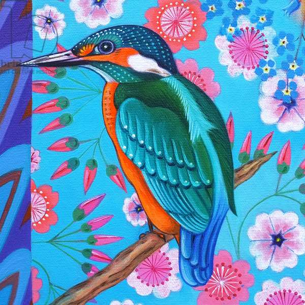 Kingfisher,2016, (oil on canvas)