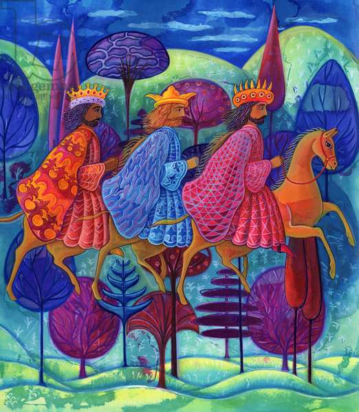 The Three Kings Christmas, 2004, (ink and gouache)