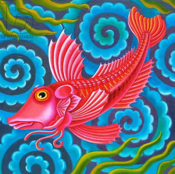 Gurnard fish, 2017, (oil on canvas)