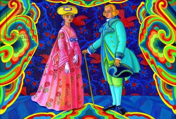 Romantics, 2011, (oil on canvas)