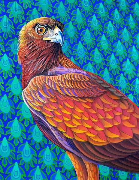 Golden eagle, 2017, (oil on canvas)