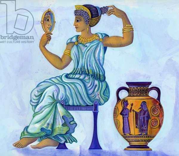 Ancient Greek woman, 2002 (ink and gouache)