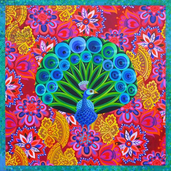 Peacock and pattern, 2015, (oil on canvas)