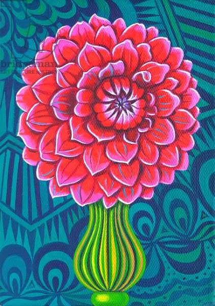 Dahlia, 2014, (oil on canvas)