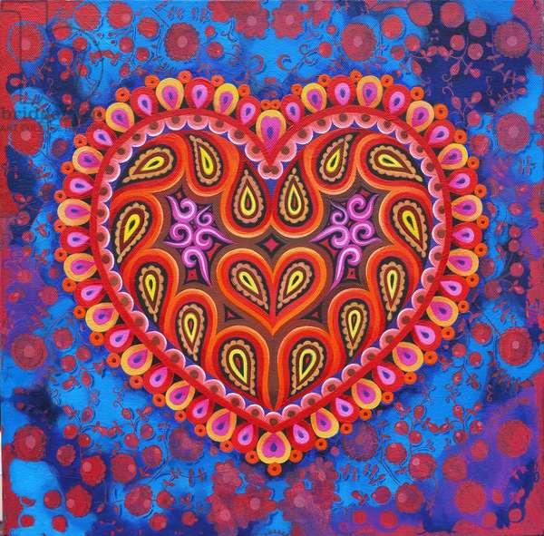 Heart, 2016, (oil on canvas)