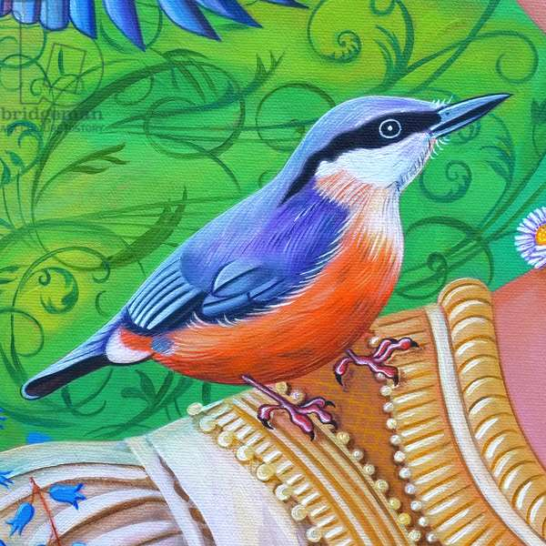 Nuthatch, 2016, (oil on canvas)