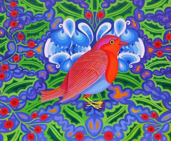 Christmas Robin, 2012, (oil on canvas)