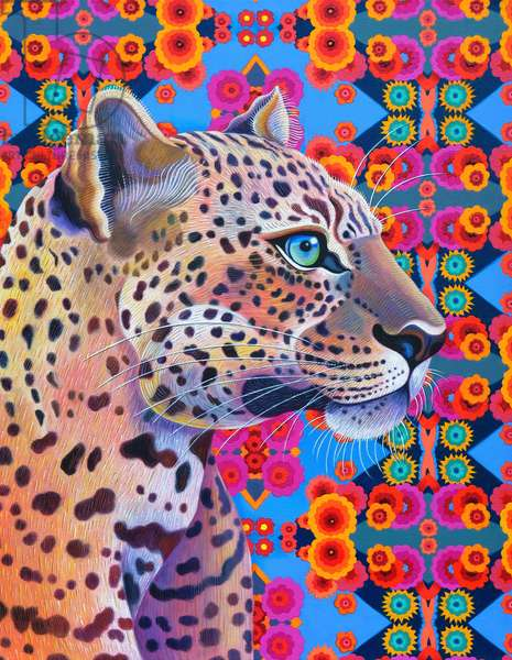 Leopard, 2018, (oil on canvas)