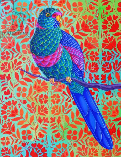 Blue Parrot, 2015, (oil on canvas)