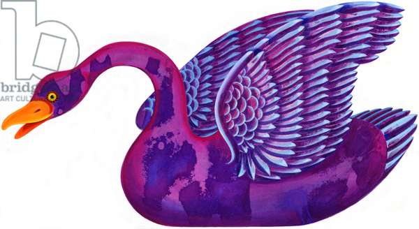 Swan, 1996, (ink and gouache)