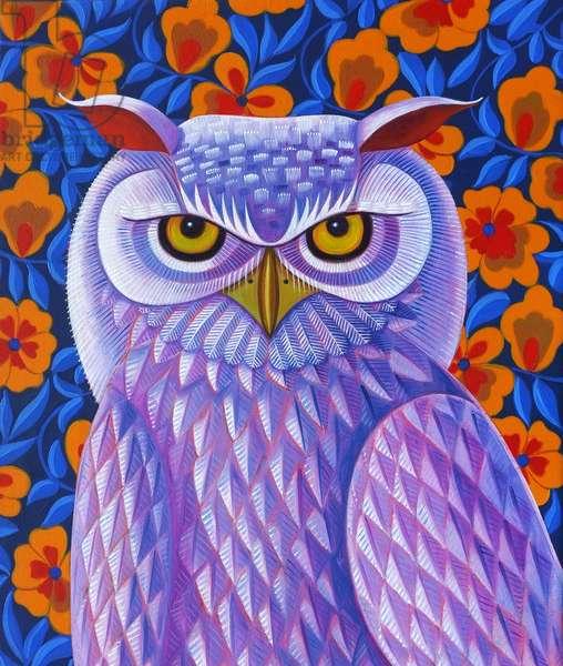 Snowy Owl, 2013, (oil on canvas)