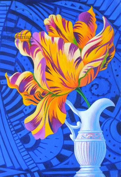 Tulip, 2014, (oil on canvas)
