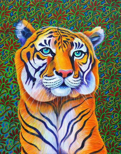 Tiger, 2018, (oil on canvas)