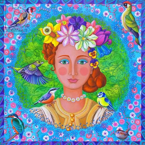 Spring girl, 2016, (oil on canvas)