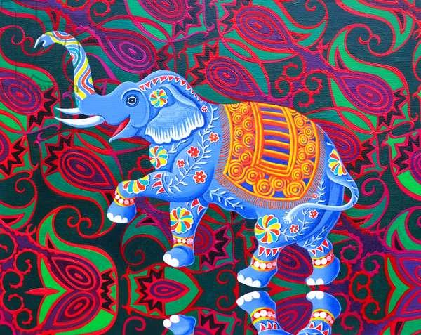 Indian Elephant, 2016, (oil on canvas)