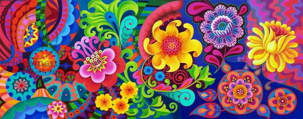 Flower pattern, 2020, (oil on canvas)
