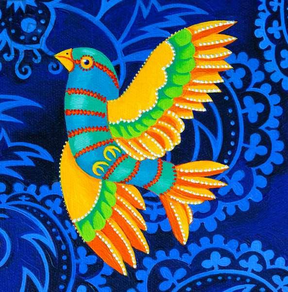 Yellow-winged Bird, 2019, (oil on canvas)