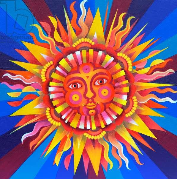 Sun, 2017, (oil on canvas)