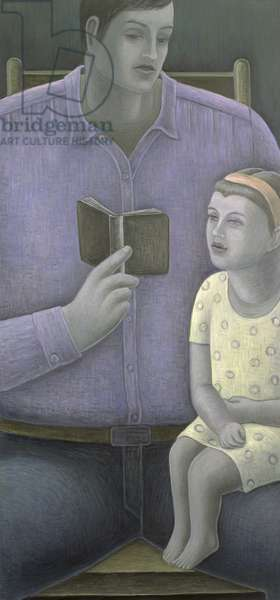 Man reading to Girl