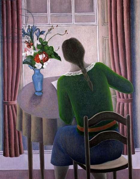 Woman at Window, 1998 (oil on board)