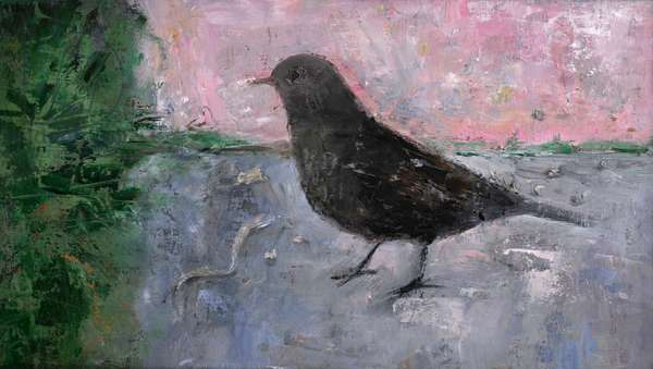 The Early Bird, 2012 (oil on wood)
