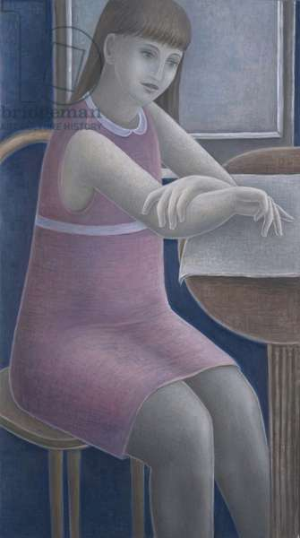 Young Girl Reading, 2008 (oil on canvas)