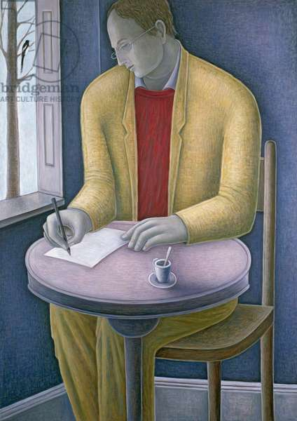 Man Writing, 2004 (oil on canvas)