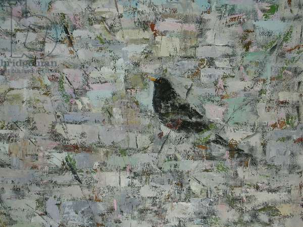 Blackbird in Tree (detail)