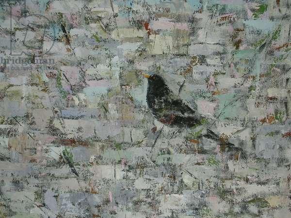 Blackbird in Tree (detail)