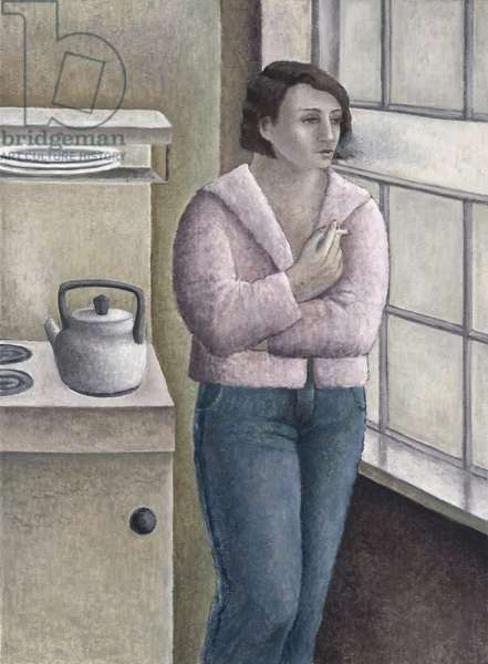 Woman Smoking at Window, 1996 (oil on canvas)
