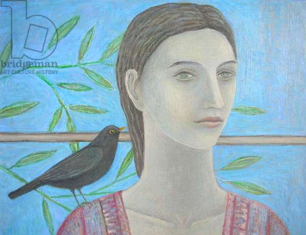 A Woman and a Blackbird are One (detail)