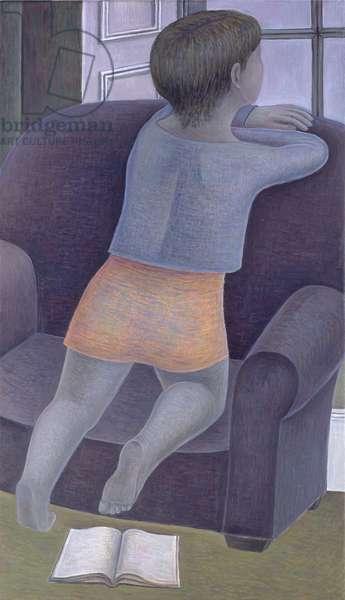 Girl on Chair, 2002 (oil on canvas)