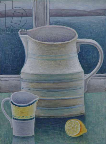 Still Life with Two Jugs and Lemon