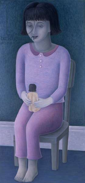 Girl and Doll, 2003 (oil on canvas)