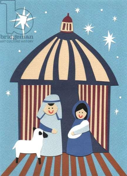 Nativity, 2014, (cut paper)