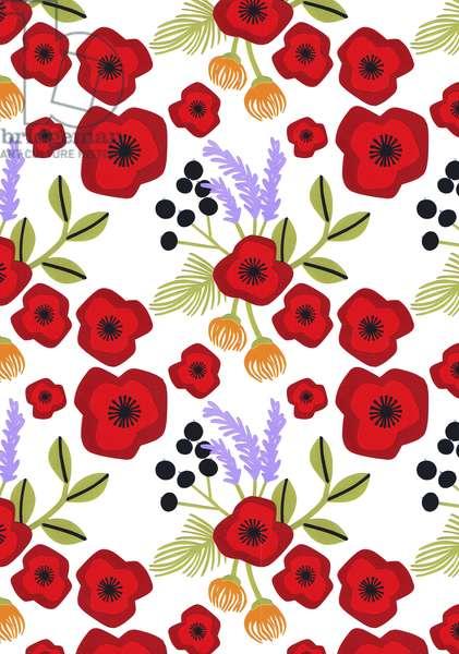 Poppy print, 2015, (cut paper)
